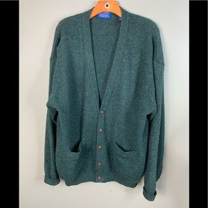 Vintage Pendleton Wool Cardigan Mens XL Green